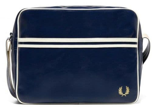 Fred Perry Authentic Men's Messenger Classic Shoulder Navy Blue / White BNWT